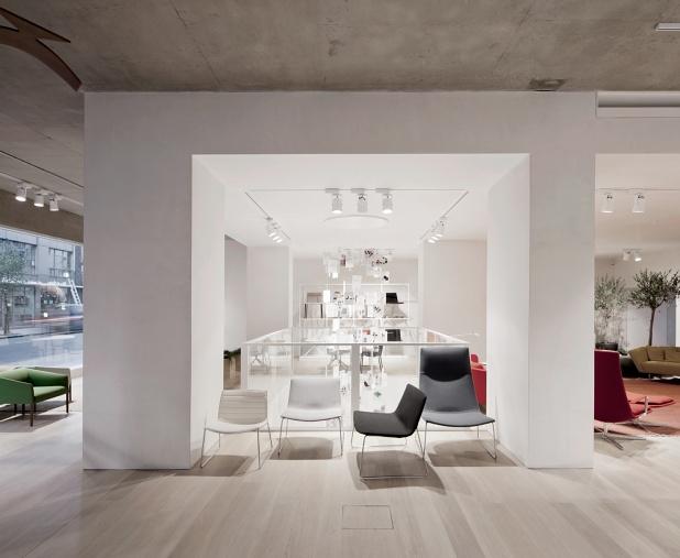 6a architects  u2013 arper showroom